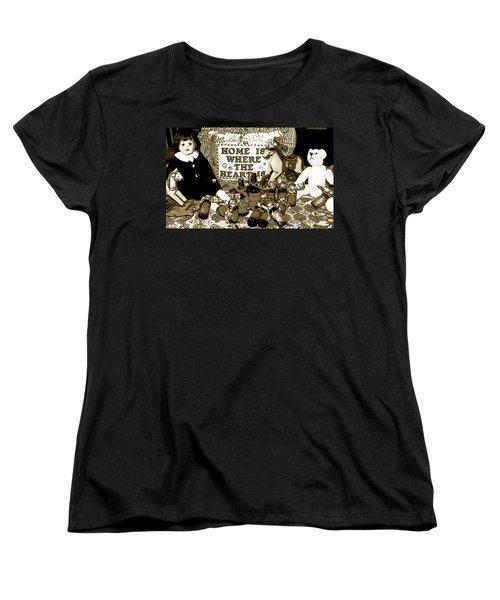 Women's T-Shirt (Standard Cut) featuring the photograph Home Americana Style by Pamela Hyde Wilson