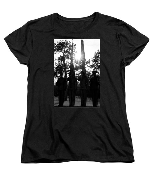 Honor Thy Country Women's T-Shirt (Standard Cut) by Colleen Coccia