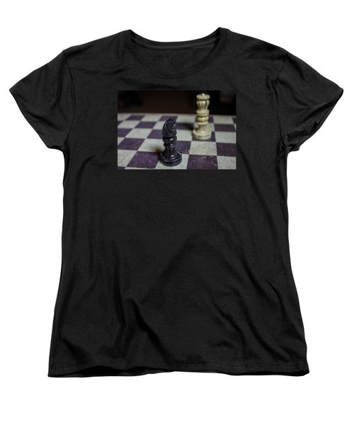 Women's T-Shirt (Standard Cut) featuring the photograph Horsing Around by Stephanie Nuttall