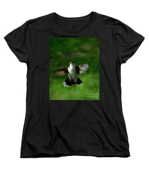 Hovering Hummingbird  Women's T-Shirt (Standard Cut) by Sue Stefanowicz