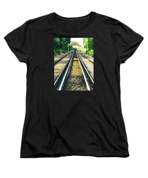 Women's T-Shirt (Standard Cut) featuring the photograph How Come They Never Go Up The Middle by Steve Taylor