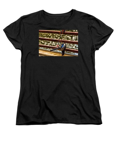 Women's T-Shirt (Standard Cut) featuring the photograph How Not To Lock Your Bike by Tom Gort