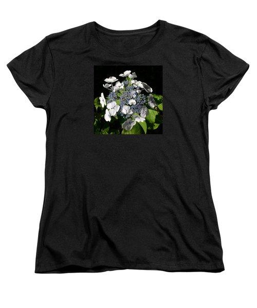 Women's T-Shirt (Standard Cut) featuring the digital art Hydranga by Claude McCoy