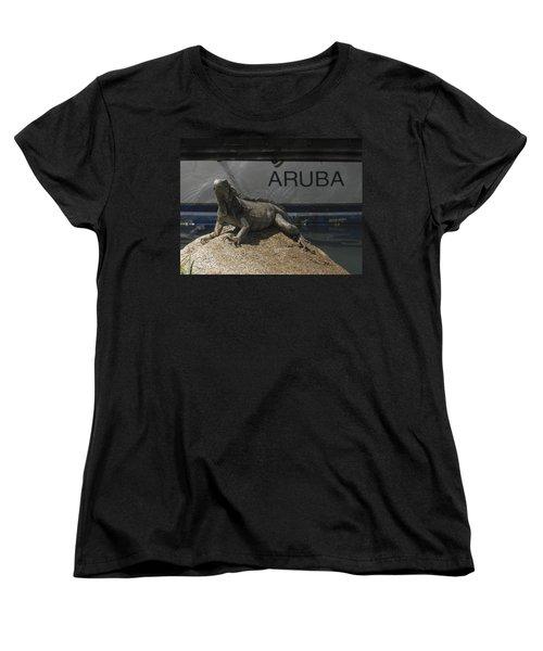 Women's T-Shirt (Standard Cut) featuring the photograph Iguana by David Gleeson