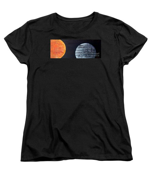Women's T-Shirt (Standard Cut) featuring the painting Illumination by Barbara Moignard