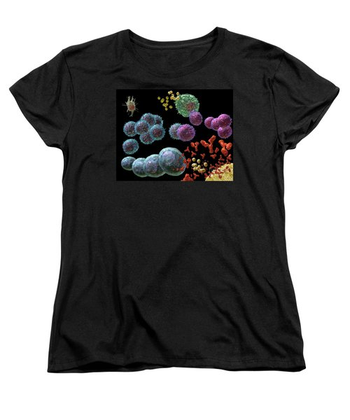Immune Response Antibody 2 Women's T-Shirt (Standard Cut) by Russell Kightley
