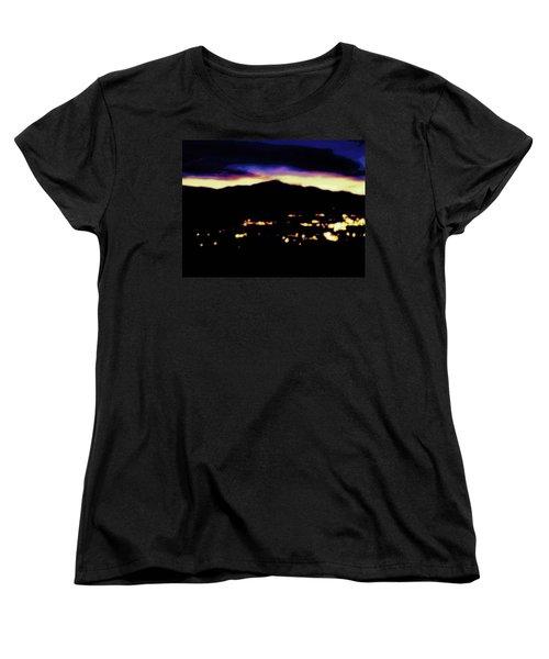 Impressionistic Pikes Peak Women's T-Shirt (Standard Cut) by Clarice  Lakota