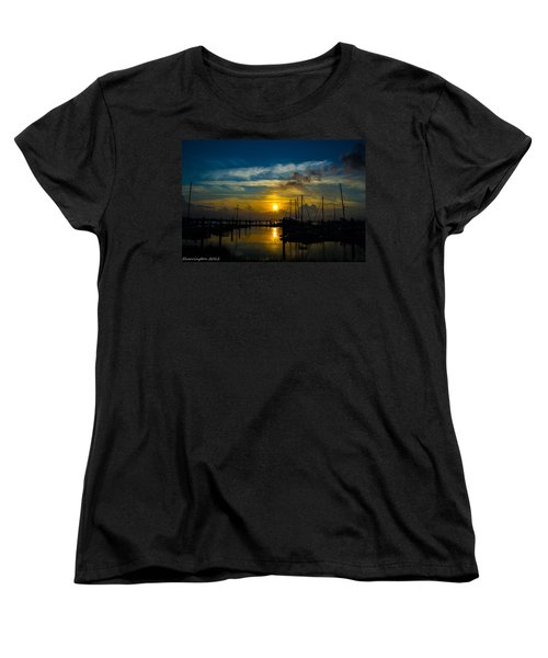 In For The  Night Women's T-Shirt (Standard Cut) by Shannon Harrington