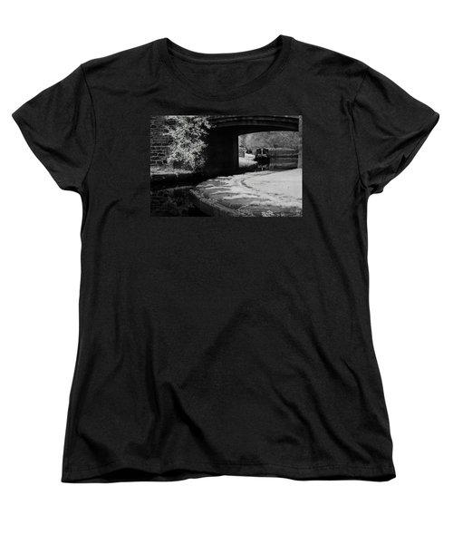 Women's T-Shirt (Standard Cut) featuring the photograph Infrared At Llangollen Canal by Beverly Cash