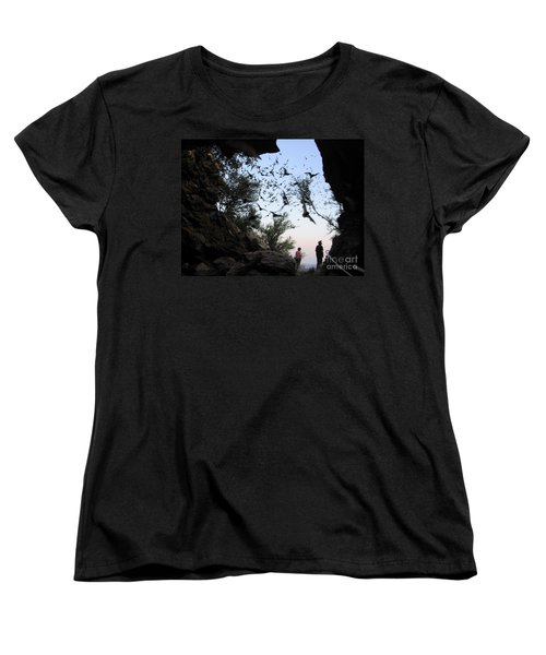 Inside The Bat Cave Women's T-Shirt (Standard Cut) by Mark Robbins