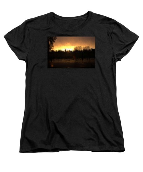 Women's T-Shirt (Standard Cut) featuring the mixed media Insomnia II by Terence Morrissey