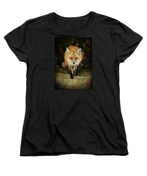 Women's T-Shirt (Standard Cut) featuring the photograph Island Beach Fox by Sami Martin