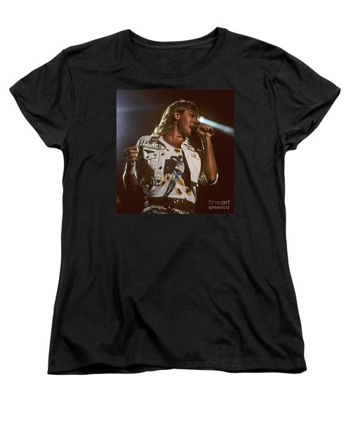 Joe Elliot Women's T-Shirt (Standard Cut) by David Plastik