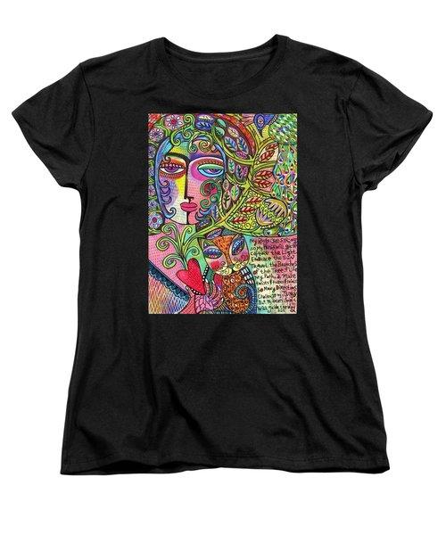 Journey Of The Heart Women's T-Shirt (Standard Cut) by Sandra Silberzweig
