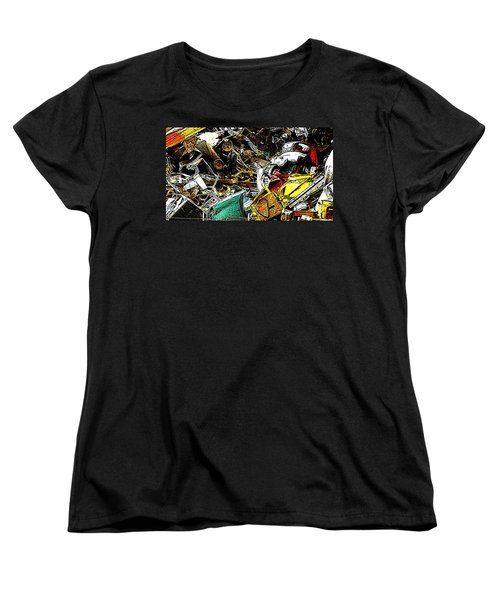 Women's T-Shirt (Standard Cut) featuring the photograph Junky Treasure by Lydia Holly