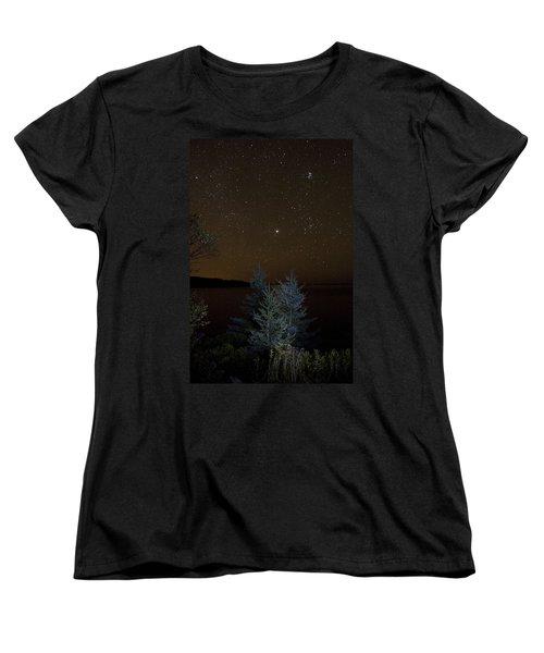 Jupiter  Over Otter Point 2 Women's T-Shirt (Standard Cut) by Brent L Ander