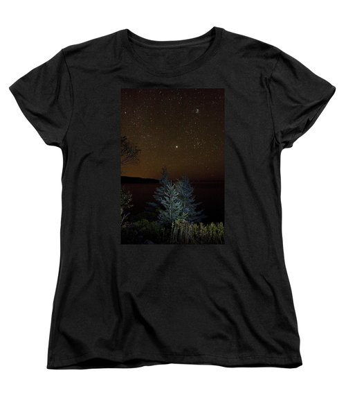 Jupiter  Over Otter Point 3 Women's T-Shirt (Standard Cut) by Brent L Ander