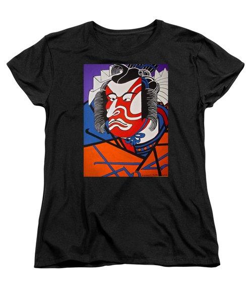 Kabuki Actor 2 Women's T-Shirt (Standard Cut) by Stephanie Moore