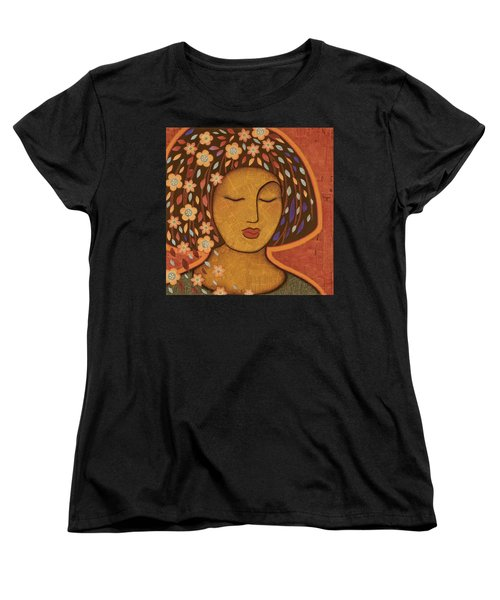 Women's T-Shirt (Standard Cut) featuring the painting Kali by Gloria Rothrock