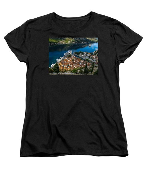 Women's T-Shirt (Standard Cut) featuring the photograph Kotor Montenegro by David Gleeson