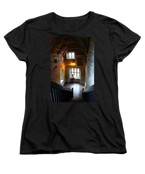 Women's T-Shirt (Standard Cut) featuring the photograph Lady In Waiting  by Charlie and Norma Brock