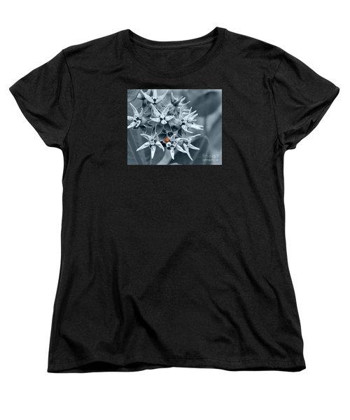 Ladybug Flower Women's T-Shirt (Standard Cut) by Rebecca Margraf