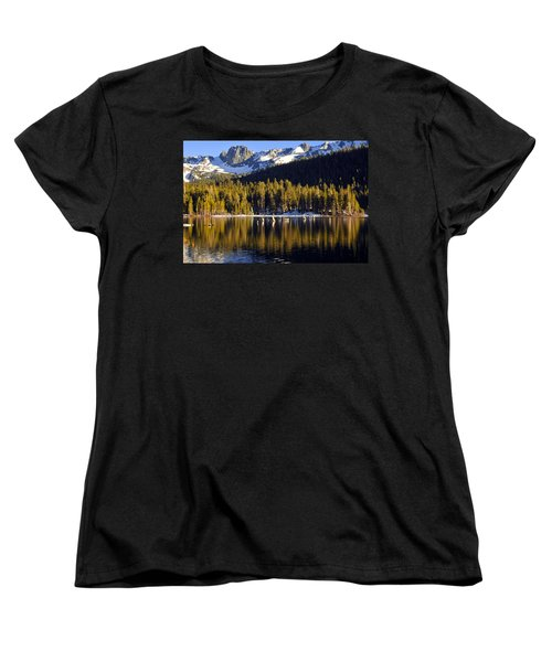 Women's T-Shirt (Standard Cut) featuring the photograph Lake Mary Reflections by Lynn Bauer