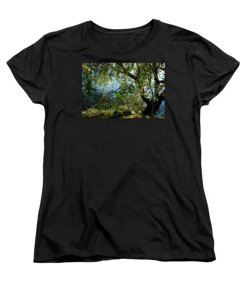 Lakeside Tree Women's T-Shirt (Standard Cut) by Kathleen Grace