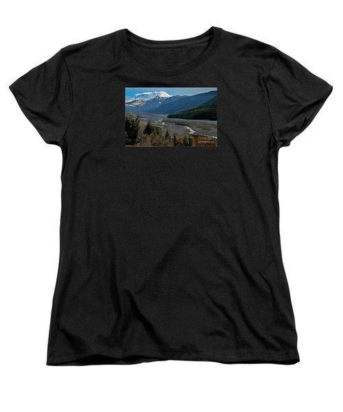 Women's T-Shirt (Standard Cut) featuring the photograph Landscape Of Mount St. Helens Volcano Washington State Art Prints by Valerie Garner