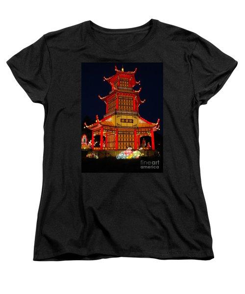 Women's T-Shirt (Standard Cut) featuring the photograph Lantern Lights by Vivian Christopher
