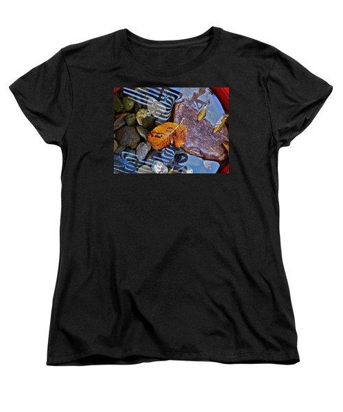 Leaves Rocks Shadows Women's T-Shirt (Standard Cut) by Bill Owen