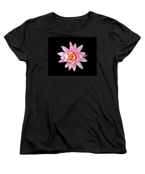 Women's T-Shirt (Standard Cut) featuring the photograph Lily On Black by Bill Barber