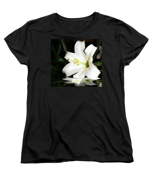 Lily Reflection Women's T-Shirt (Standard Cut) by Pamela Hyde Wilson