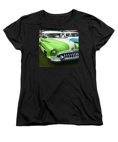 Women's T-Shirt (Standard Cut) featuring the photograph Lime Green 1950s Buick by Kym Backland