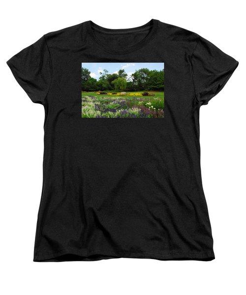 Women's T-Shirt (Standard Cut) featuring the photograph Lincoln Park Gardens by Lynn Bauer