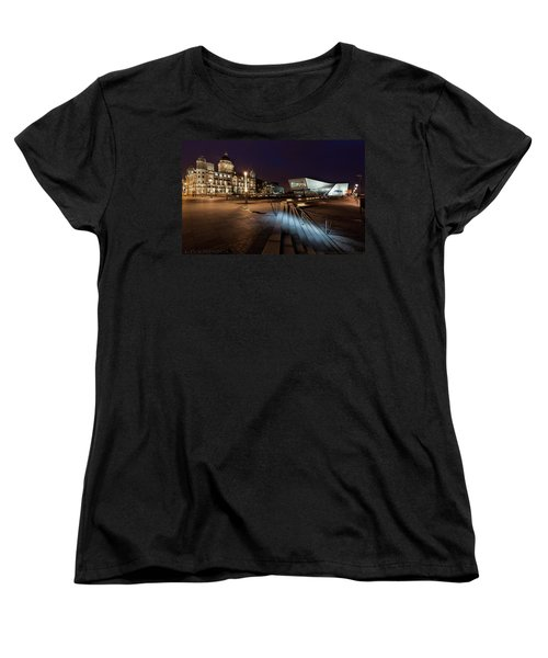 Women's T-Shirt (Standard Cut) featuring the photograph Liverpool - The Old And The New  by Beverly Cash