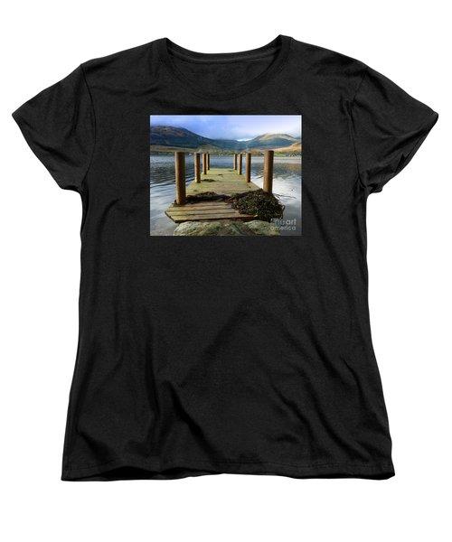 Women's T-Shirt (Standard Cut) featuring the photograph Long Walk Off A Short Pier by Lynn Bolt