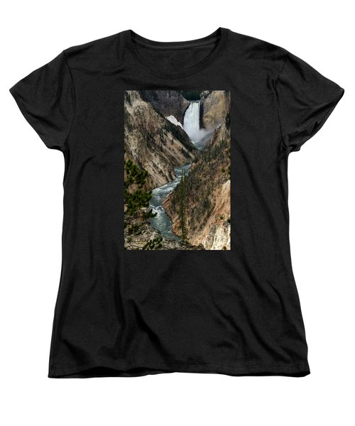Lower Falls And Yellowstone River Women's T-Shirt (Standard Cut) by Living Color Photography Lorraine Lynch