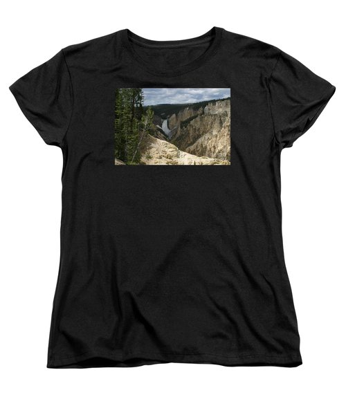 Lower Falls Of Yellowstone Women's T-Shirt (Standard Cut) by Living Color Photography Lorraine Lynch