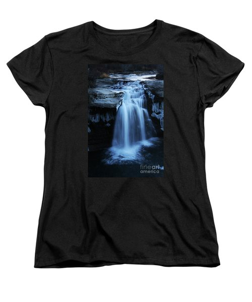 Women's T-Shirt (Standard Cut) featuring the photograph Lundbreck Falls by Alyce Taylor