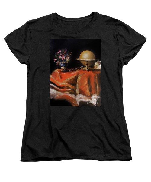Women's T-Shirt (Standard Cut) featuring the painting Magical Beginnings by Karen  Ferrand Carroll