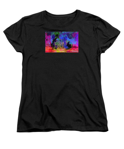 Women's T-Shirt (Standard Cut) featuring the painting Mapped In Time  Pottery Collection by Sherri  Of Palm Springs