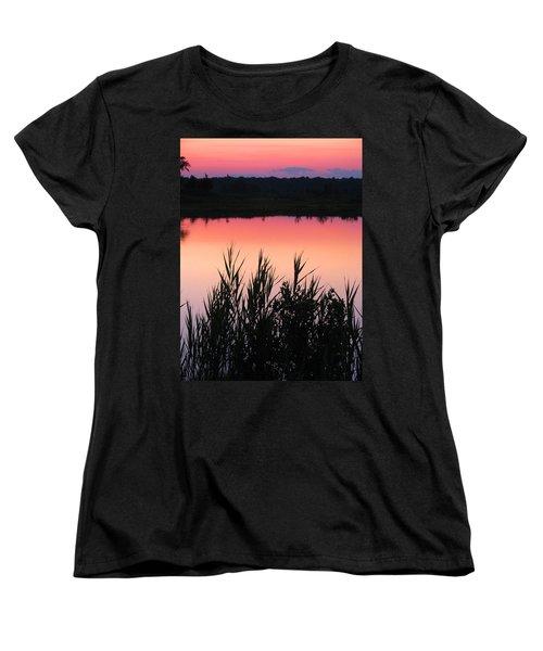 Women's T-Shirt (Standard Cut) featuring the photograph Marsh Sunset by Clara Sue Beym