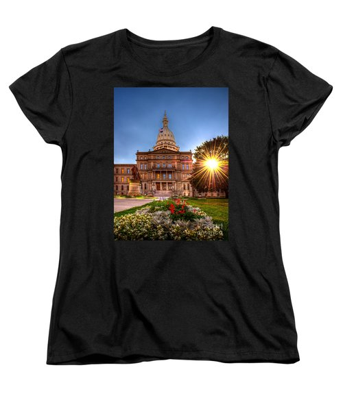 Michigan Capitol - Hdr - 2 Women's T-Shirt (Standard Cut) by Larry Carr