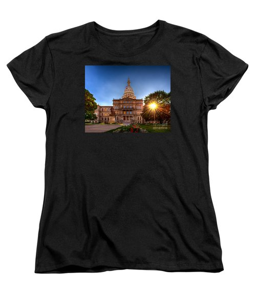 Michigan Capitol - Hdr-1 Women's T-Shirt (Standard Cut) by Larry Carr