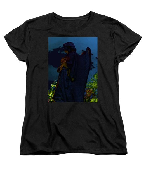 Midnight Angel Women's T-Shirt (Standard Cut) by Lisa Brandel