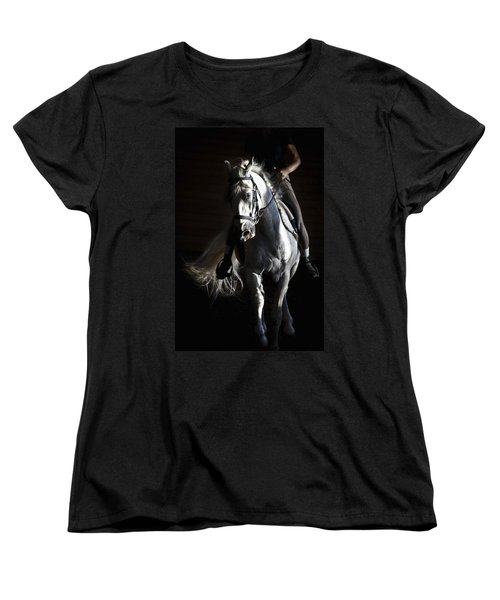 Midnight Ride Women's T-Shirt (Standard Cut) by Wes and Dotty Weber