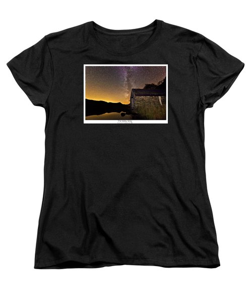 Women's T-Shirt (Standard Cut) featuring the photograph Milky Way Above The Old Boathouse by Beverly Cash