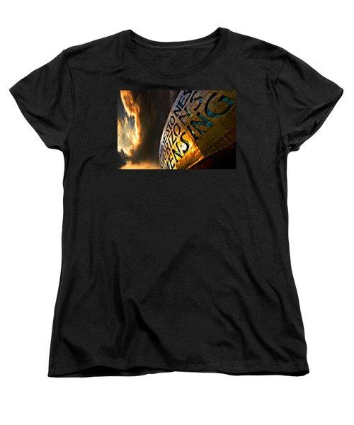 Women's T-Shirt (Standard Cut) featuring the photograph Millennium Drama by Meirion Matthias