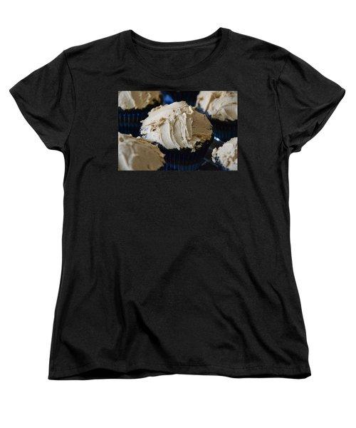 Mini Mountain Of Mocha Women's T-Shirt (Standard Cut) by Bonnie Myszka